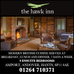 Andover Good Food Advertising With The Hawk Inn