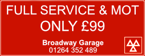 Andover Advertising with Broadway Garage | MOT | Service