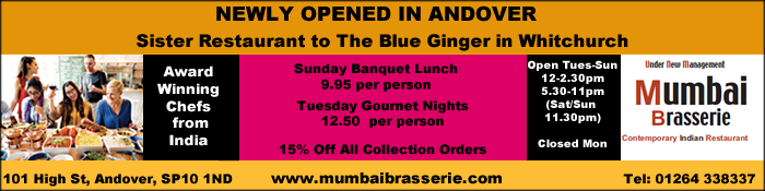 Advertise with Andover & Villages - Mumbai Brasserie in Andover High Streey