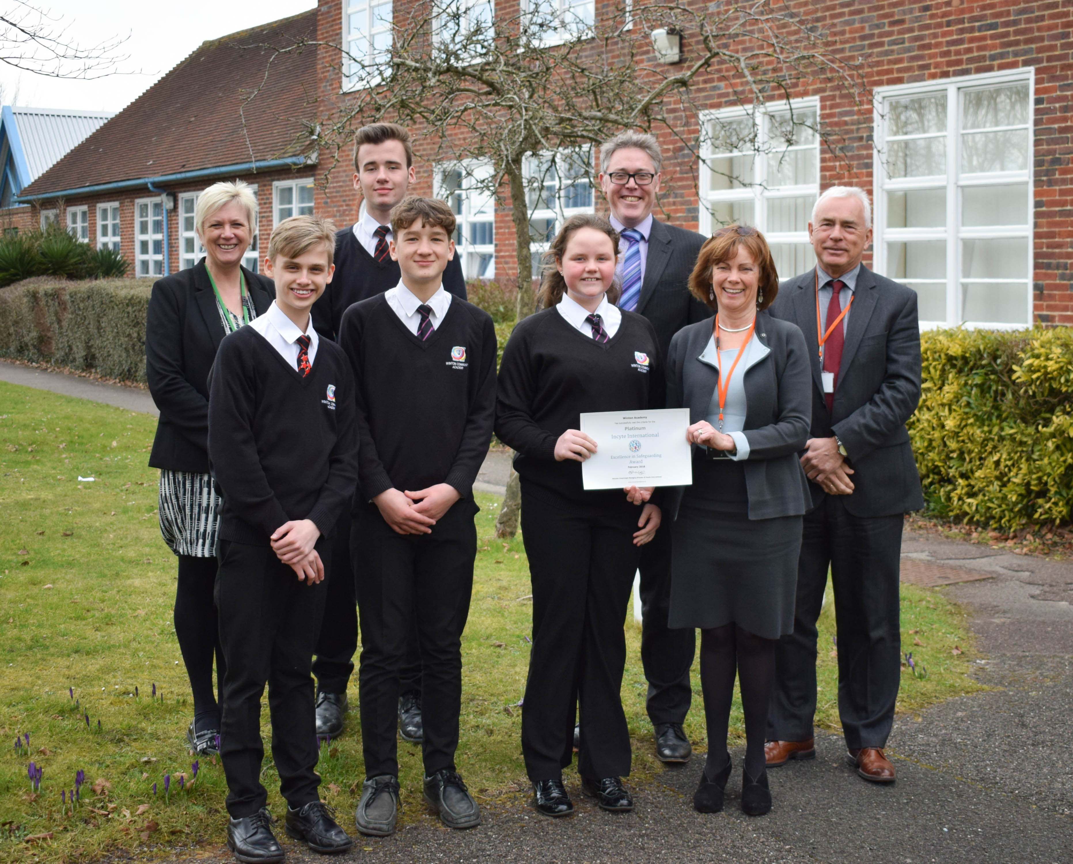 Education News | Winton Awarded Platinum Safeguarding Award | Andover & Villages