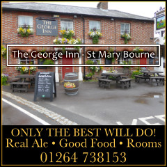 The George Inn St Mary Bourne Advertising with Andover & Villages
